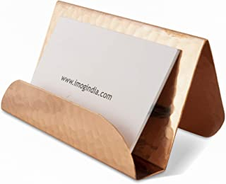 GoCraft Pure Copper Business Card Holder Stand | Fits 20-30 Business Cards [CC0206-TMG]