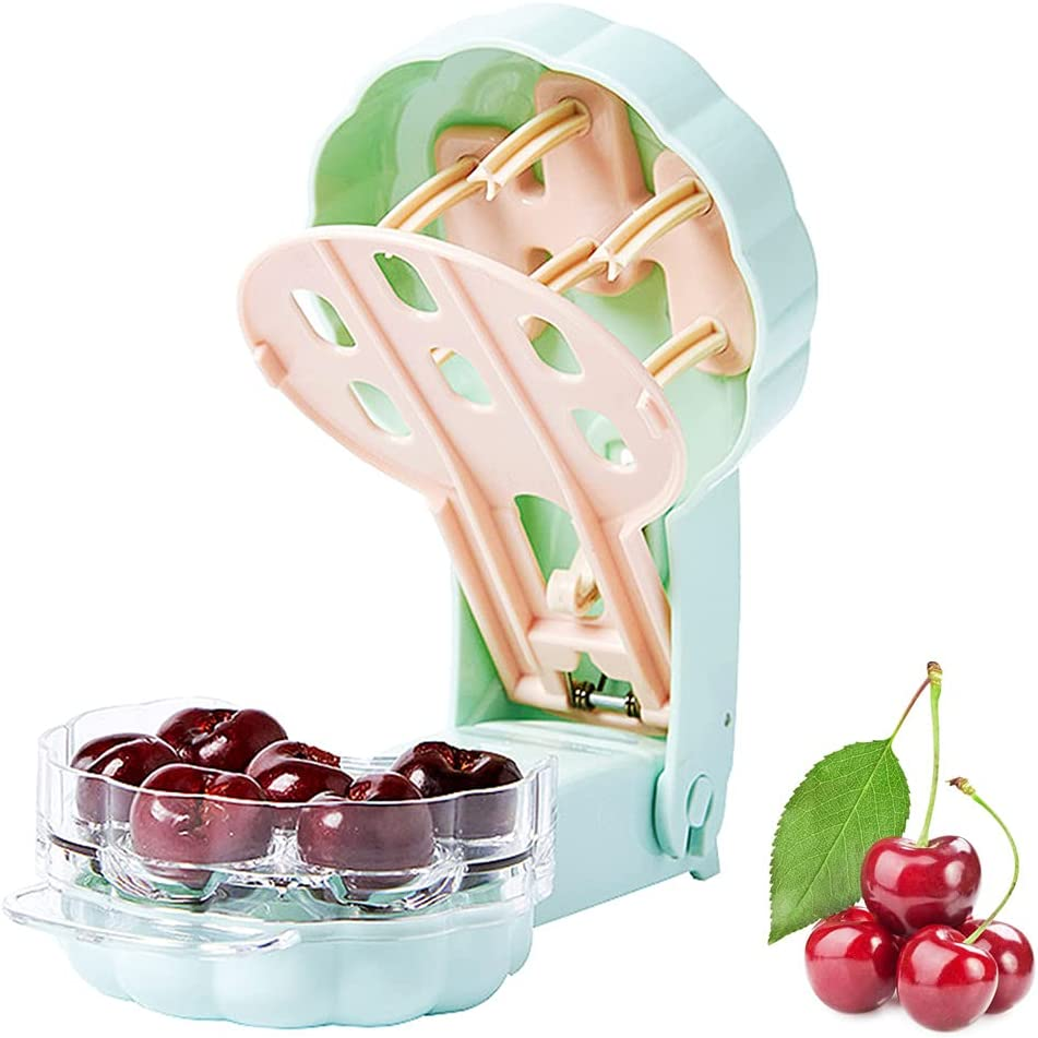 Aebor Cherry Pitter, 6 Cherries seed remover, Portable Cherry Co