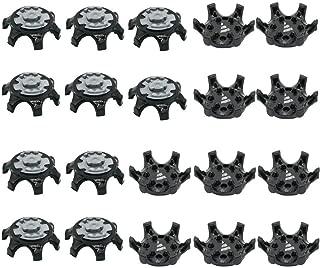 sansheng 20PCS Easy to Change Studs, Anti-Skid Golf Shoes, Golf Studs/(Black)
