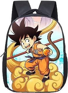 12 Pulgadas Anime Dragon Ball Niños Bolsos Escolares Sun Goku Niños Niñas Kindergarten Impresión Mochila Niños Bolsas Diarias de Regalo Mochilas