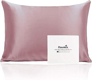 Ravmix 100% Silk Pillowcase for Hair and Skin with Hidden Zipper, Both Sides 21Momme Mulberry Silk, 1PCS, Standard Size 2...