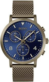 Hugo Boss Mens Quartz Watch, Chronograph Display And Stainless Steel Strap 1513693