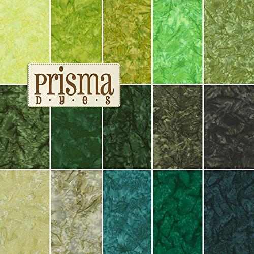Lunn Studios PRISMA DYES RAINFOREST BATIKS Precut 5-inch Charm Pack Cotton Fabric Quilting Squares Assortment Robert Kaufman CHS-270-42