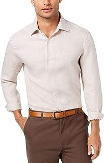 Tasso Elba Mens Linen Cross-Dyed Button-Down Shirt