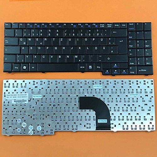 kompatibel mit Medion Akoya MD97439, MD97441 Tastatur - Farbe: schwarz - Deutsches Tastaturlayout