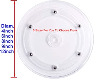 Rotating Lazy Susan Turntable Kitchen Base Organizer Turn Dining Table Round Spice Rack Rolling Display Rack Rotary Bearing Swivel Plate For Cake Kitchen Pantry Decor (12 inch)
