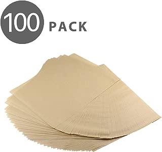 Flexzion Non-Stick Parchment Paper Pre-Cut Kitchen Baking Sheets, Oven Safe Heat-Resistant Oil-Proof Toxic-Free Bio-Degradable, for Pastries/Cakes/Pizzas, 100% Unbleached Wood Pulp, 12 x 16