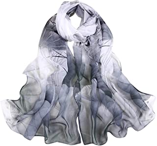 Scarves for Women Sale Clearance! Fankle Ladies Chiffon Lotus Printing Long Soft Wrap Scarf Shawl Turban Stole 160x50cm
