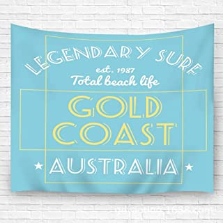 YILINGER Tapestry Wall Art Surfing Legendary Surf Gold Coast Australia Hanging Tapestry Wall Decoration Carpet 51.2