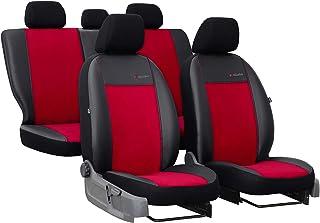 Sitzbezüge Exclusive geeignet für KIA Picanto Farbe Rot Schonbezüge mit Seitlichen Kunstleder   für Standard Sitze