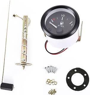 Tropicaleu Medidor de Nivel de Combustible Digital Pantalla Led de 52mm con Sensor de Combustible E-1/2-F Acero Inoxlidable Resistente