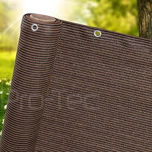 1m,1.5m, 2m wide privacy netting garden screening windbreak fencing 95 percent shade fence net brown 1.5m x 10m