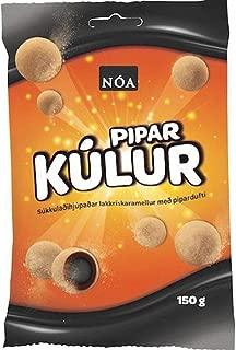 Iceland Pipar Kulur Lakkris, Chocolate Licorice Powder Balls 150g - 5.2Oz
