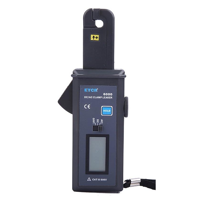 闇パステル警報デジタルテスター 測定工具 クランプ電流計DC/AC漏れ電流測定電気流量範囲DC/AC 0mA?60.0A、ジョーサイズ直径7mm、RS232インターフェース付きデータアップロード機能データ保存99グループETCR6000 デジタルメーター