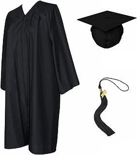 maroon graduation gown