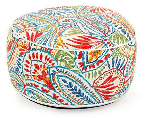 PEGANE Pouf d'exterieur Gonflable Multicolore - Dim : Ø 53 x H 23 cm
