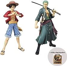 One Piece Portrait of Pirates: Roronoa Zoro Model PVC Figure - Monkey D Luffy Model PVC Figure (2 Pieces)
