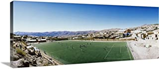 GREATBIGCANVAS Gallery-Wrapped Canvas Entitled High Angle View of a Soccer Field Potosi Tomas Frias Province Potosi Department Bolivia by 60