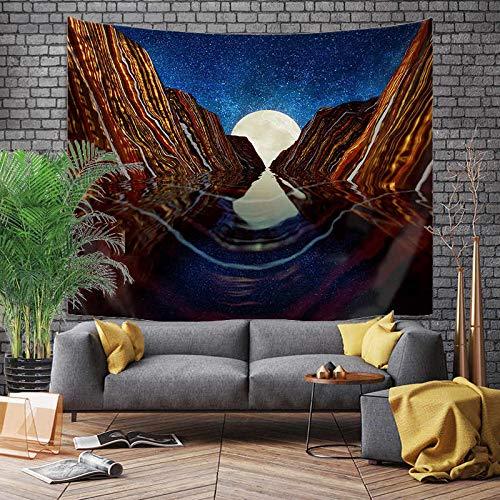 Tapiz grande de estilo japonés, dragón de ballena, pez, dragón y tótem de fénix, colgante de pared, tela de fondo bohemio A19 150x200cm
