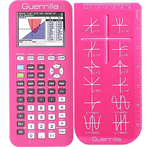 Guerrilla Silicone Case for Texas Instruments TI-84 Plus CE Color Edition Graphing Calculator With Screen protector and Graphing Ruler, Pink Photo #5