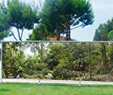 Malla de ocultación impresa, para jardín, terraza o balcón, decoración de bosque, poliéster, 100%, 340 x 132 cm