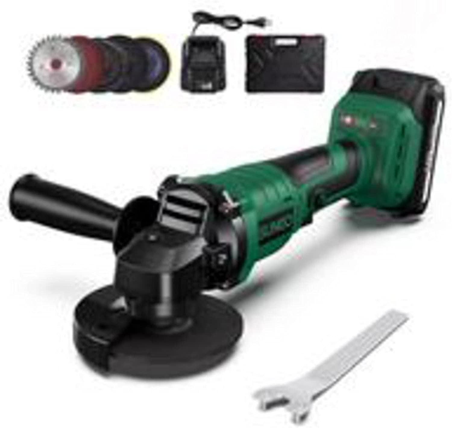 Brushless Cordless Angle Grinder Charg 21V Fast Direct store price