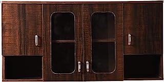 Hexagon Furnitures Wooden Orchid Dark Glossy Modular Kitchen Cabinet (Brown)