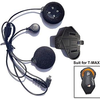 Fodsports Cuffie cuffie con microfono /& Clip accessorio per nuovo V6 moto casco Bluetooth interfono Intercom