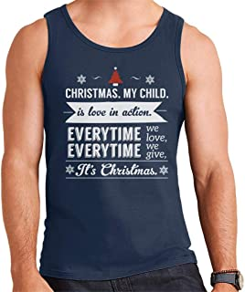 Christmas is Love in Action Dale Evans Rogers Quote Men's Vest