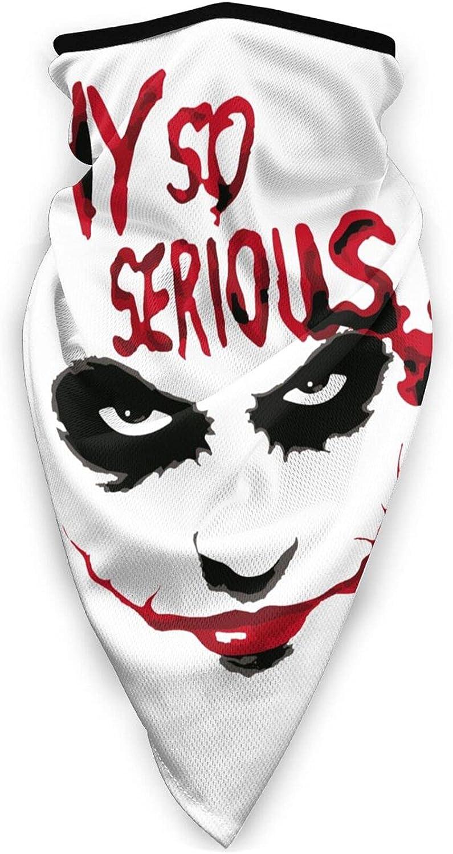Why So Serious Why So Serious Unisex Reusable Washable Fabric Mask Bandanas Balaclava Black