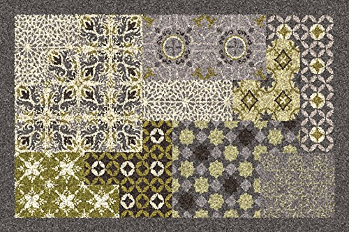 ID Mat Dallas Tapis, Fibres Synthétiques, Vert, 40x60x0,7 cm