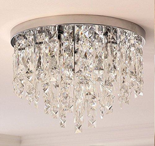 Moderno Cristal Lámpara de techo/lámpara de techo Ø40cm transparentes Luxus Candelabros E14× 5× 30W Indoor iluminación para salón comedor dormitorio restaurante
