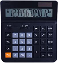 $31 » WXIANG Calculator Desktop Calculator 12-Digit Solar Battery Basic Calculator, Solar Battery Dual Power Office Calculator w...