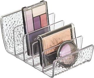 iDesign rangement maquillage, petite boîte de rangement en plastique pour maquillage avec 5 compartiments, bac de rangemen...