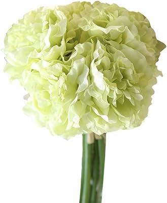 Zhuhaitf Artificial Flowers Peony Hydrangea Bouquet For Wedding Party Home Decor