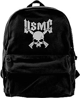 Mochila de lona USMC con logotipo de la mochila de gimnasio, senderismo, portátil, bolsa de hombro para hombres y mujeres