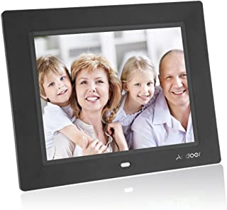Andoer 8'' Ultrathin HD TFT-LCD Digital Photo Frame Alarm Clock MP3 MP4 Movie Player with Remote Desktop