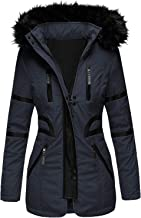 $50 » Letdown Accessories Womens Hooded Warm Winter Coats with Faux Fur Lined Multiple Pockets Solid Color Full Zip Fleece Lined...