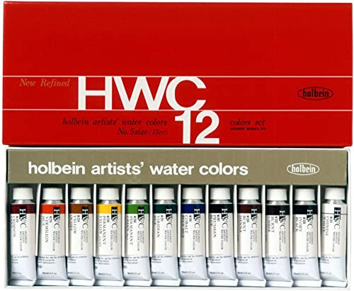 12 Farbe set Holbein transparent waterFarbes (japan import)