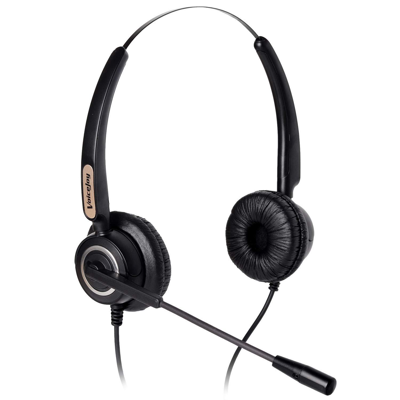 Corded Headset Binaural Canceling Microphone