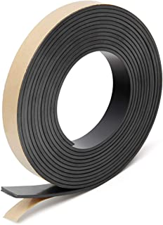 Coitak Flexible Magnetic Tape, 1/2 Inch x 10 Feet Magnetic Strip with Strong Self Adhesive, Anisotropic Magnetic Roll for Craft and DIY Projects, Sticky Magnetic Roll Perfect for Fridge