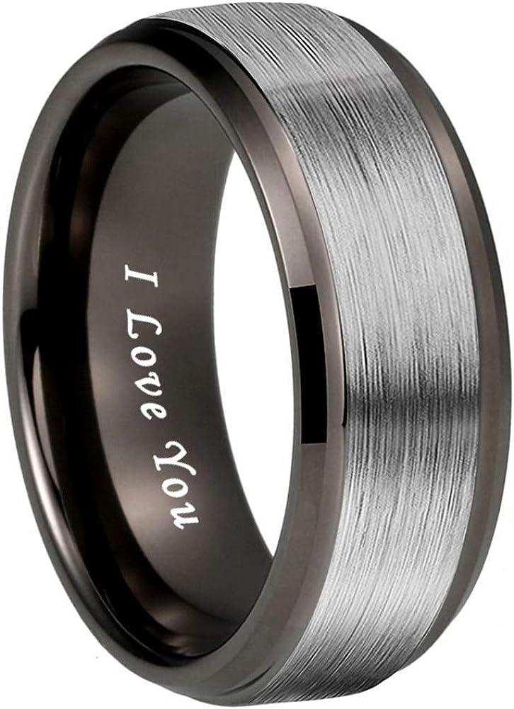 iTungsten 4mm 6mm 8mm Manufacturer regenerated product Silver Black Classic Rose Gold T 18K Gunmetal