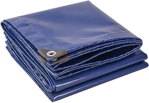 Zm Bache imperméable épaisse, Feuille Bleue de bache de Prougeection Solaire, activités extérieures, camionnettes de Tente de Camping appliquent la bache, Multi Tailles (Couleur   bleu, Taille   3mx6m)