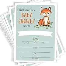 Best woodland fox baby shower invitations Reviews