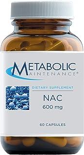 Metabolic Maintenance NAC - 600mg Pure N-Acetyl-L-Cysteine Supplement - Detox, Liver + Antioxidant Glutathione Support, No...