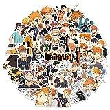 Saicowordist Haikyuu - Pegatinas de anime japonés para ordenador portátil, dormitorio, armario, coche, monopatín, teléfono móvil, equipaje, guitarra (52 unidades)