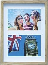 Painel Color Wood Para 2 Fotos 10X15cm Kapos Natural/Branco