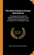 Best the steen family in europe and america Reviews