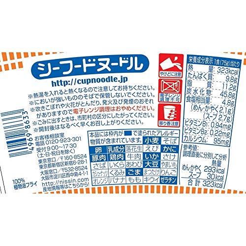 日清食品カップヌードルシーフードヌードル75gx20個