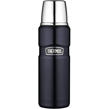 Thermos Not Available Stainless King 16 Ounce Compact Bottle, Midnight Blue, 16 oz